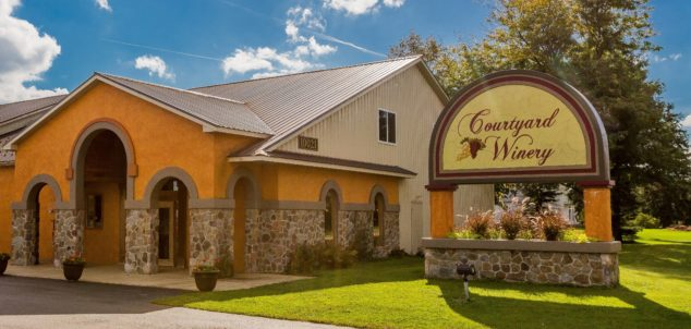Exterior photo of Courtyard Winery in North East